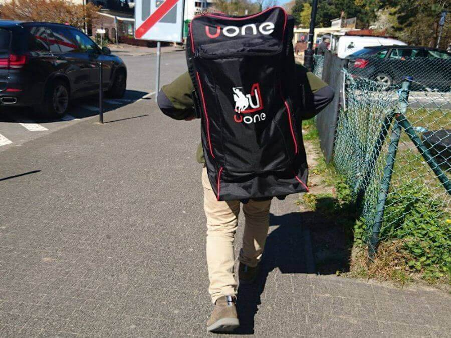 Czarny plecak do supa od Uone