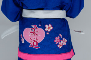 Tył niebieskie judogi