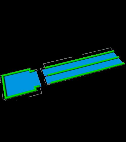 Zjeżdżalnia naziemna z basenem pompowana