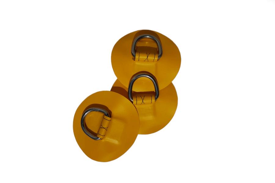 Żółte oczka bagażowe do deski sup